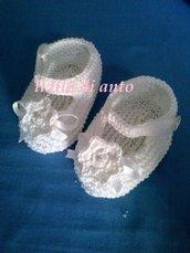 Scarpine neonata  bianche