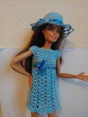 Vestito e cappello da Barbie