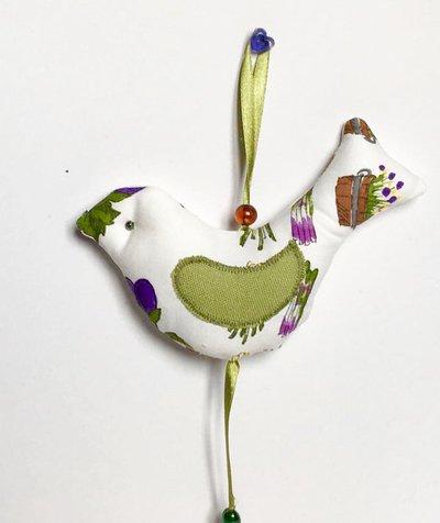 Uccellino di stoffa profumato- shabby-chic