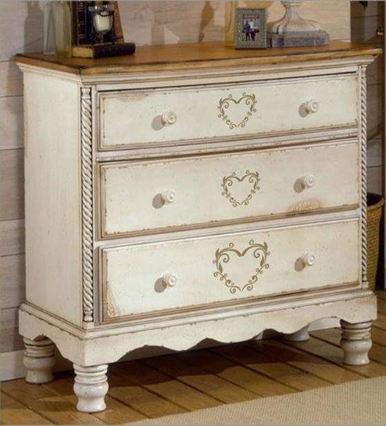 Adesivo cuore decò per mobili