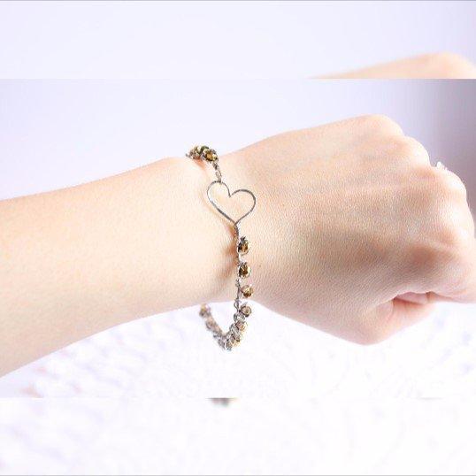 Filo d'oro braccialetto, braccialetto in acciaio inox