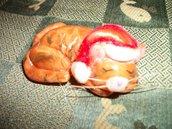 gattino natalino che dorme