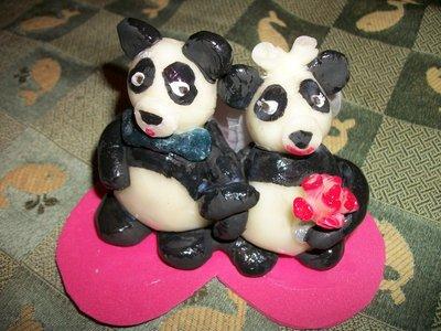Sposini panda, cake topper