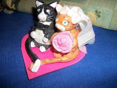 CAKE TOPPER sposini gattini