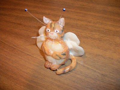 gattino farfallino, cake topper battesimo