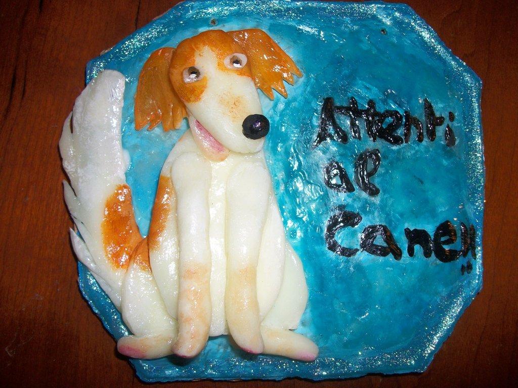 Attenti al cane con caricatura 3D del vostro cane