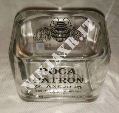 Vaso Bottiglia Vuota Tequila Roca Patron Arredo Idea Regalo Riciclo Creativo Riuso Handmade Idea Regalo