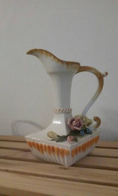 Vaso Brocca versatoio ceramica di Bassano vintage made in Italy