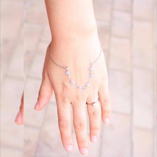 Open Blu e d'argento del braccialetto del, braccialetto
