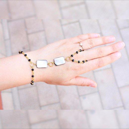 Madre di braccialetto schiavo perle conchiglia
