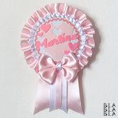 Fiocco nascita personalizzabile / rosa