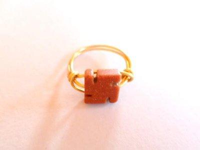 anello eliolite pietra del sole in wire