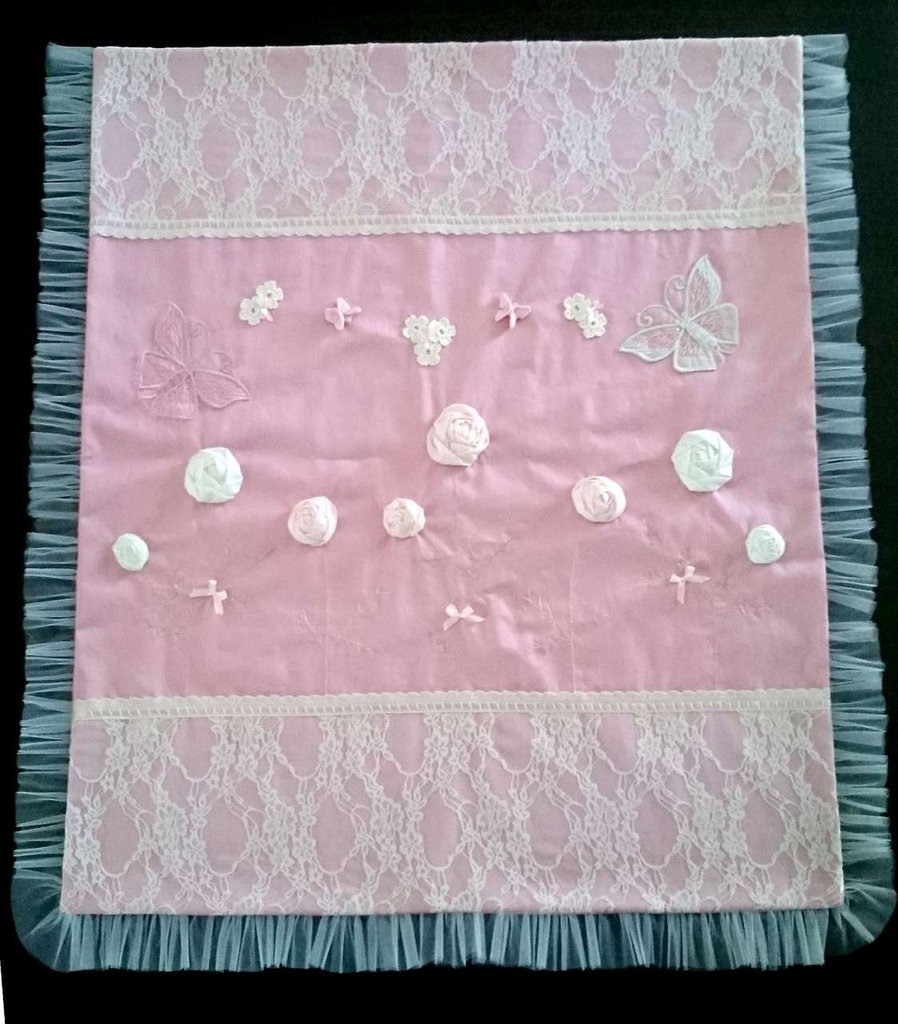 Coperta nascita rosa
