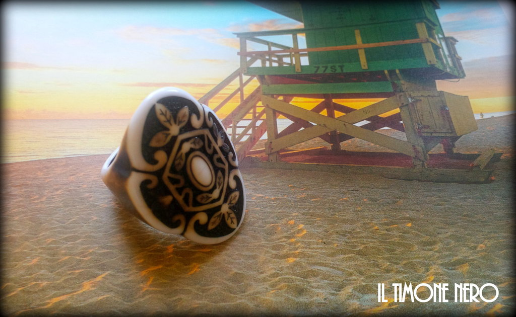 "Anello ""Tribal Leaf"""