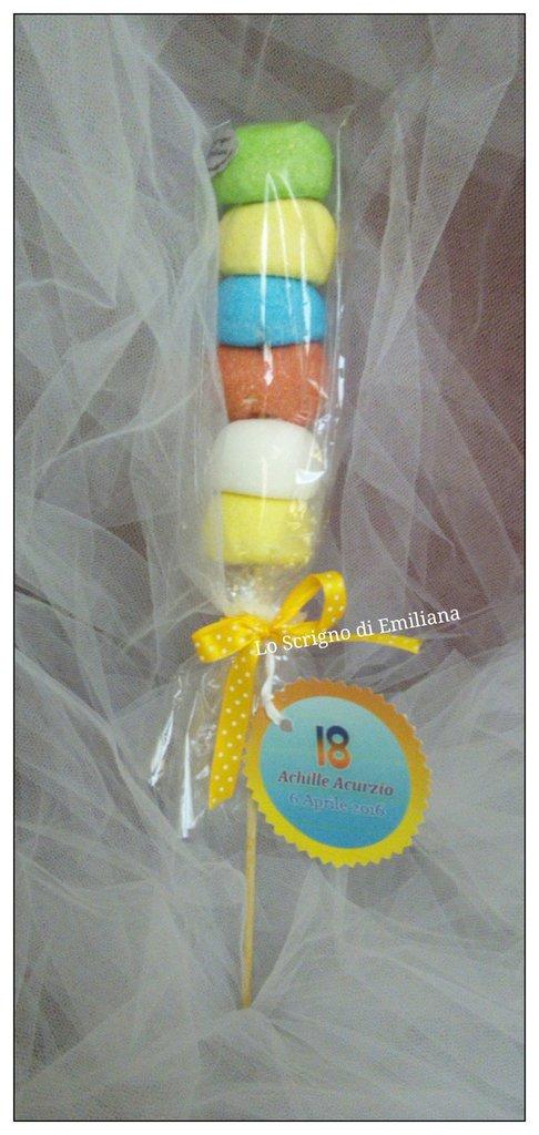 Spiedino marshmallow bomboniera