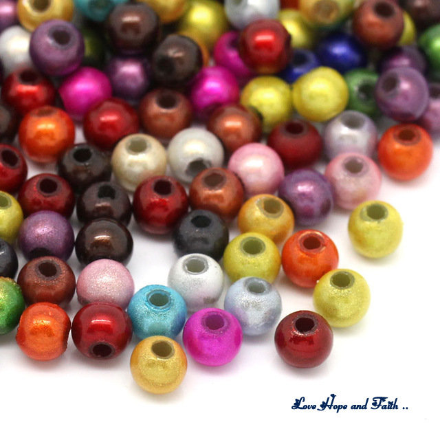 LOTTO 95 perle in vetro multicolore (3,5 mm)  (cod.new)