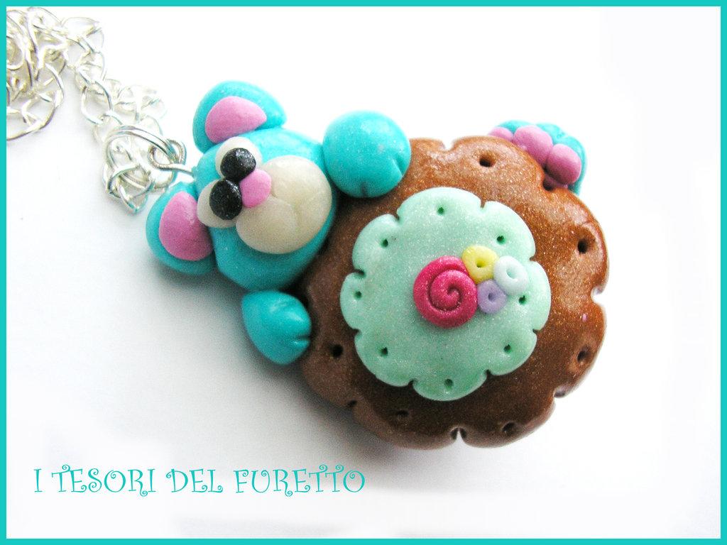 collana orsetto donut ciambella biscotto catena moda estate