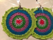 Orecchini rainbow in cotone