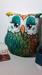 Cuscino decorativo a forma di gufo