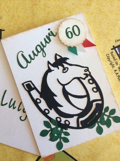 Biglietto d'auguri 60 anni cavallo