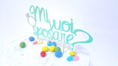 Cake topper torta di fidanzamento // mi vuoi sposare? Proposta di matrimonio