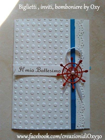 Invito / Battesimo / Comunione / Cresima / Compleanno /  Mare