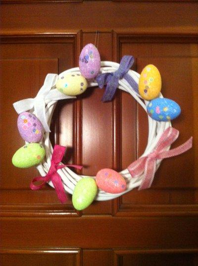 "Ghirlanda pasquale "" Eggs and Ribbons """