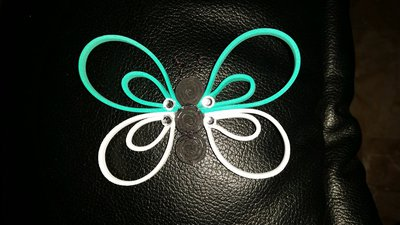 Farfallina colorata gomma crepla
