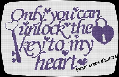 """SCHEMA PUNTO CROCE """"ONLY YOU CAN...."""""""