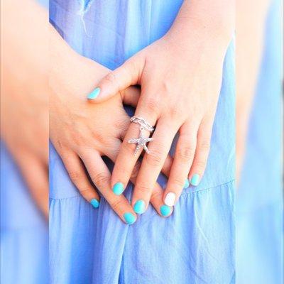 Stelle marine anello d'argento delle stelle marine anello, Stella di mare