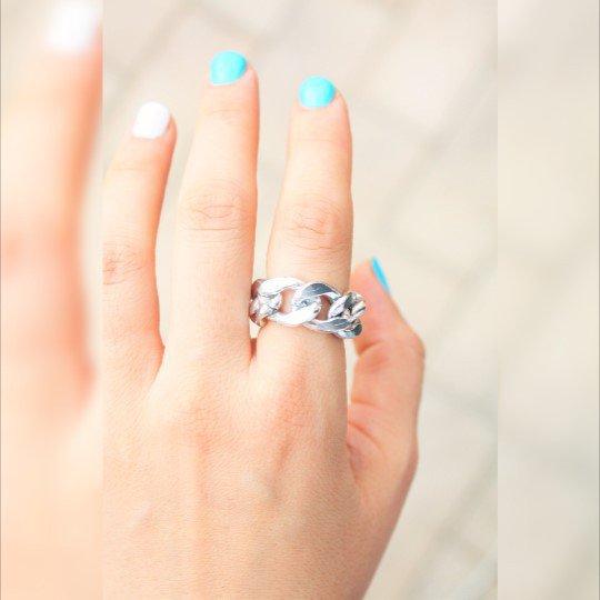 Argento semplice anello della catena, 10mm, anello di catena in argento