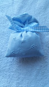 Bomboniera sacchetto in doppio tessuto
