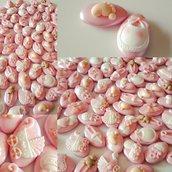 Confetti perlati - confetti nascita - confetti battesimo - confetti decorati - confetti rosa - battesimo - nascita -