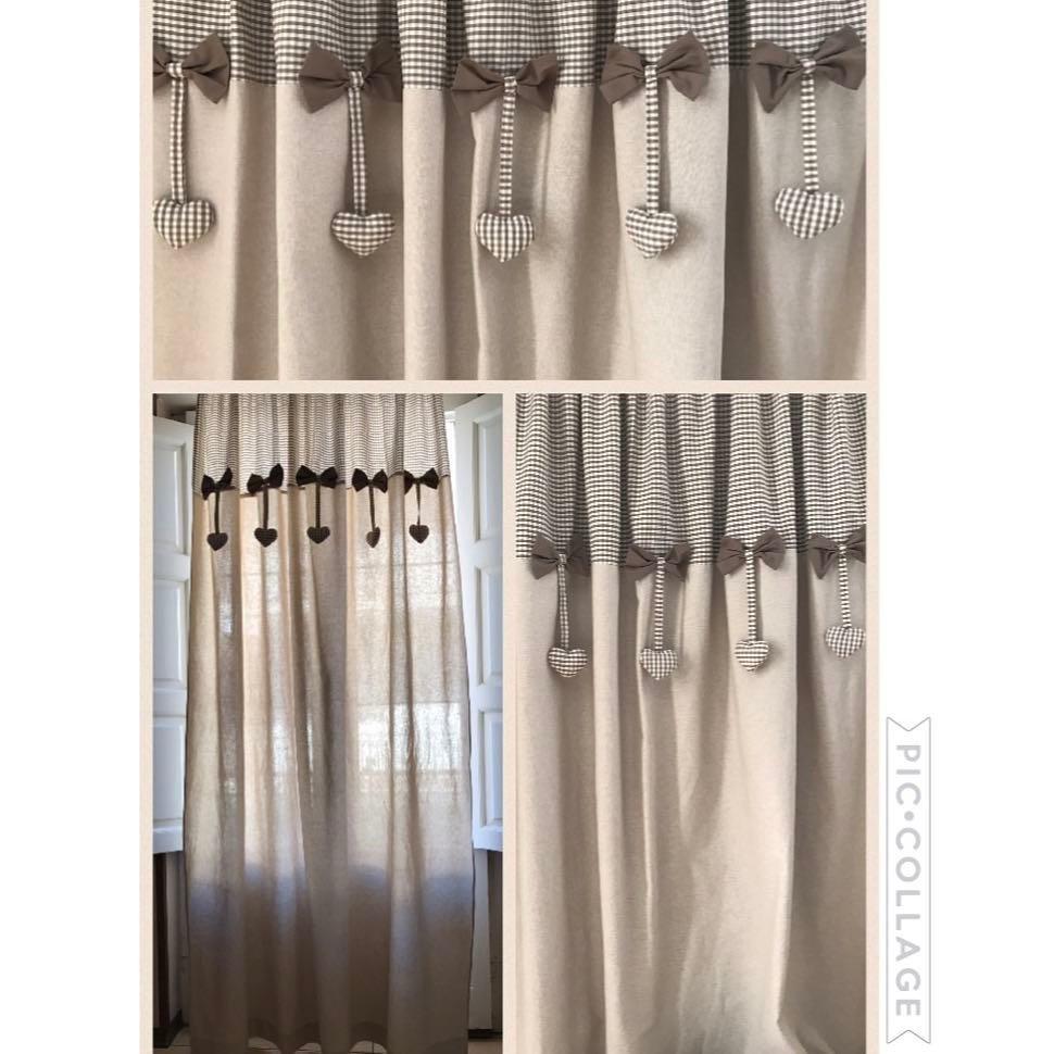 tenda con cuori e fiocchi stile shabby chic - Per la casa e per te ...