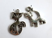 2 Ciondoli in argento tibetano  CIO89-105
