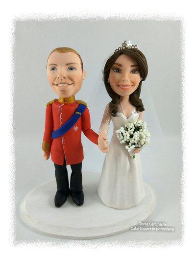 Cake topper caricatura mini sposi