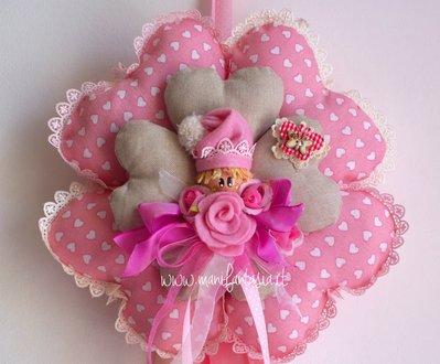 fiocco nascita fiore per bimba quadrifoglio fiore