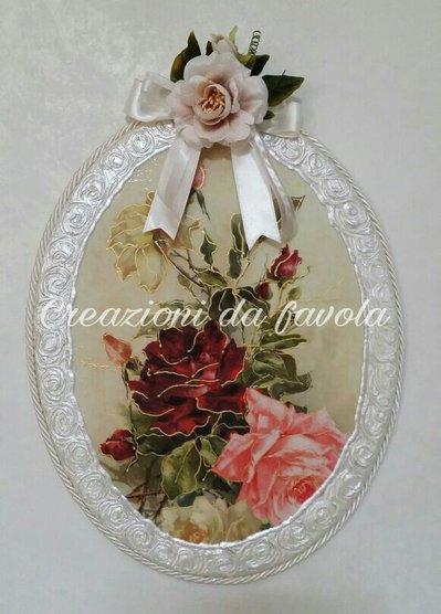 Quadro con rose stile provenzale