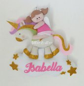 Fiocco nascita Angelo e il suo unicorno fatato