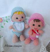 Neonati: maschio e femmina ( Amigurumi)