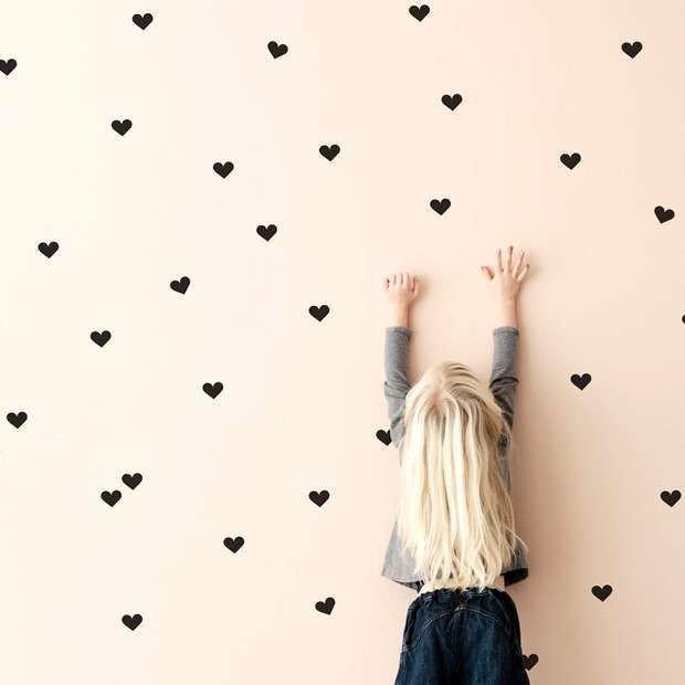 Cuoricini adesivi murali confezione 200 pezzi