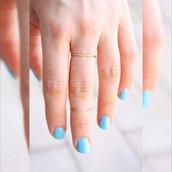 due anelli d'oro - anelli di accatastamento