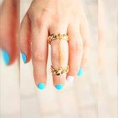 Catenina d'oro anello doppio - Catena Anello
