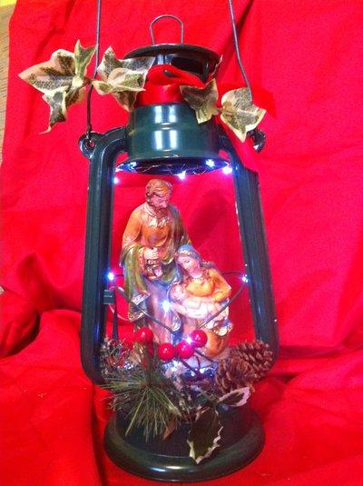Sacra famiglia in lanterna pezzo unico art 2823