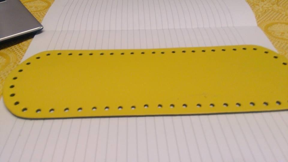 fondo ovale 10x30 giallo chiaro