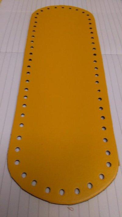 fondo ovale 10x30 giallo scuro