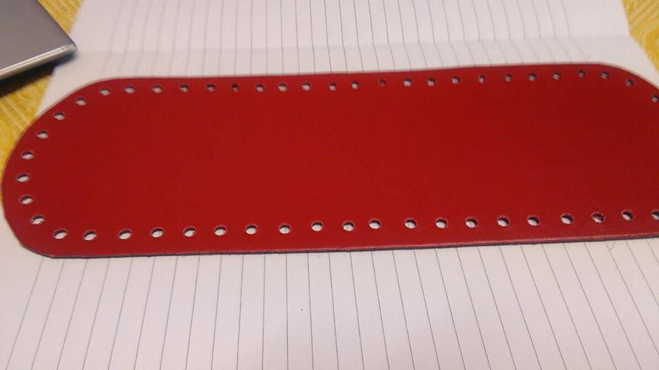 fondo ovale 10x30 rosso