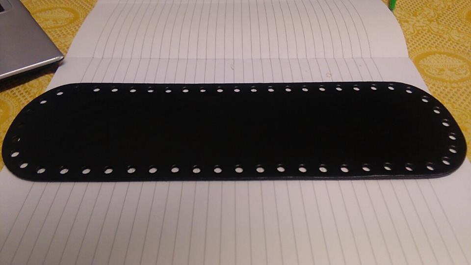 fondo ovale 10x30 nero