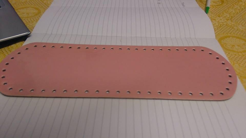 fondo ovale 10x30 rosa vernice