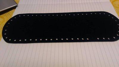fondo ovale 10x30 nero effetto camoscio